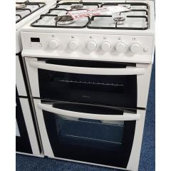 Amica 601GGDOTM(W) freestanding gas twin cavity cooker