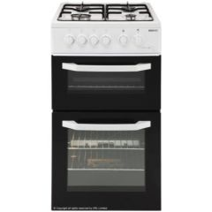 Beko BDG581W/OG 50Cm Twin Cavity Gas Cooker