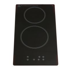 Montpellier CER31T15 30Cm 2 Zone Ceramic Hob With A 15Min Cut-Off Timer - Front Touch Control