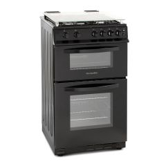 Montipellier MDG500LK Black 50cm Double Oven Gas Cooker