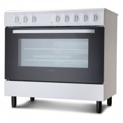Servis SC900W 90Cm Electric Range Cooker In White