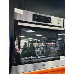 AEG BES355010M/OG Single Electric Oven With Steam Function