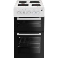 Beko AD531AW/MG 50Cm Electric Cooker With Solid Plate Hob