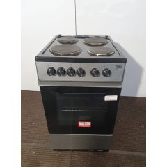 Beko KS530S/OG 50Cm Electric Cooker With Solid Plate Hob