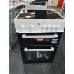 Beko KTC611W 60Cm Electric Cooker With Ceramic Hob