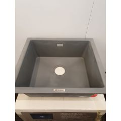 Caple LEE600PG 1.0 Bowl Pebble Grey Granite Kitchen Sink