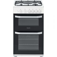 Hotpoint HD5G00KCW/R 50Cm Twin Cavity Gas Cooker