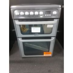 Hotpoint HUE61GS 60Cm Ceramic Double Oven