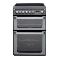 Hotpoint HUE61GS/R 60Cm Electric Cooker