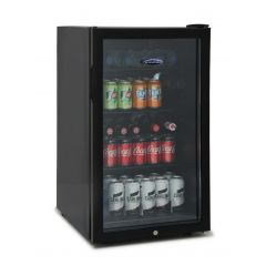 Ice King BF150BK 50Cm Under Counter Drinks Fridge Glass Door